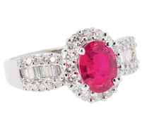 Glorious Dvani Ruby Diamond Ring