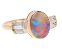 Mysteries - Black Opal Diamond Ring