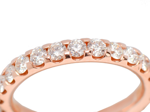 For Eternity   Rose Gold Diamond Wedding Ring