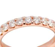 For Eternity - Rose Gold Diamond Wedding Ring