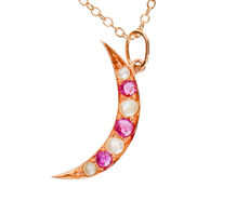 Moon Madness Antique Pendant & Chain