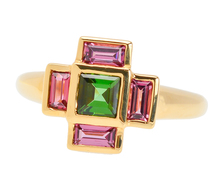 On the Square - Vintage Tourmaline Ring