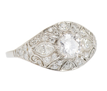 Artistry in Platinum - Diamond Engagement Ring