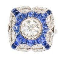 Essence of Chic - Sapphire Diamond Ring