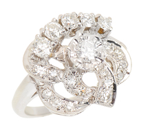Flower Power - Vintage Diamond Cluster Ring