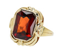 Hessonite Garnet in a Retro Ring
