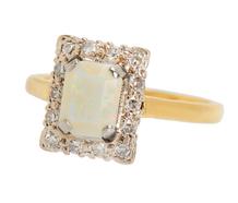 A Cut Above - Art Deco Opal Ring