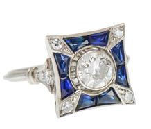 En Pointe - Sapphire Diamond Ring