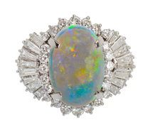 Bold & Beautiful - White Opal Diamond Ring