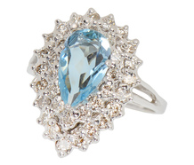 Divine - Aquamarine & Diamond Ring