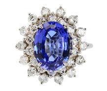 Tanzanite Rays - Estate Diamond Ring