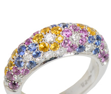 Arc of Colors Sapphire Dome Ring