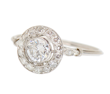 Heartfelt - Diamond Halo Ring