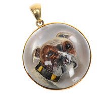 Antique Essex Crystal of a Bulldog