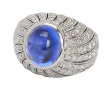 Nature's Best - Sapphire Diamond Ring