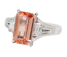 Imperial Topaz Diamond Estate Ring