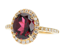 Cachet - Garnet Diamond Engagement Ring