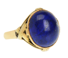 Deep Sea - Art Deco Lapis Lazuli Ring