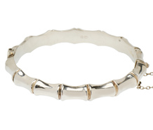 Exotica - Bamboo Silver Bangle Bracelet