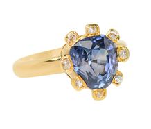 Light Magic - Color Shift Sapphire Diamond Ring