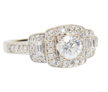 Say YES - Halo Diamond Engagement Ring