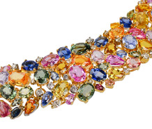 Heavenly Multi Colored Sapphire Necklace