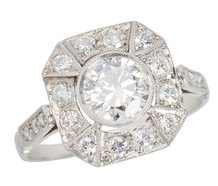 Please Hold Me - Diamond Halo Ring