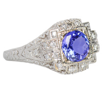 Treasured Tanzanite Diamond Ring