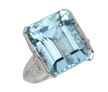Skyward - Estate Aquamarine Emerald Cut Ring