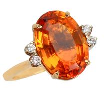 Syncopation - Modernist Citrine Diamond Ring
