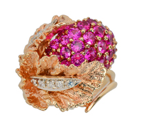 Passion - Ruby Diamond Estste Ring