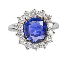 No Heat 2.09 ct Sapphire Diamond Ring