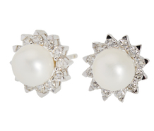 Mastaloni Pearl Diamond Stud Earrings