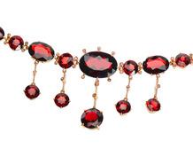 Hot Spice - Garnet Fringe Necklace