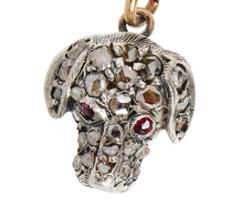Antique Diamond Dog's Head Pendant