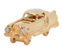 Gold Diamond Car Charm Pendant