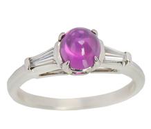 Mid-20th C. No Heat Pink Sapphire Ring