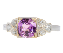 Purple Pink Sapphire Diamond Ring