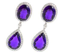 Red Carpet Amethyst Diamond Earrings