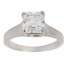 Asscher Cut 1.62 ct D Color Diamond Ring