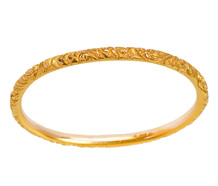 Edwardian Patterned Bangle Bracelet of 1904