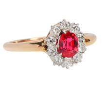Vintage Diamond Spinel Halo Ring