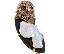Who's Wise? Edwardian Owl Pendant