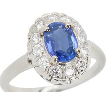 Vintage Sapphire Diamond Engagement Ring