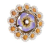 Art Nouveau Flower Brooch Pendant