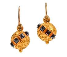 Grand Period Victorian Garnet Earrings