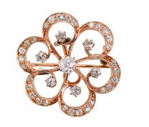 Edwardian Diamond Flower Pendant