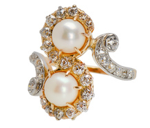 Antique Pearl Diamond Ring - True Elegance