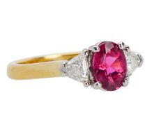Gracious Pink Sapphire Diamond Ring