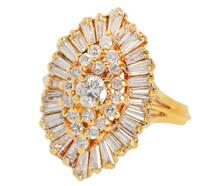 Deposit Only 18151 - Ballet Extraordinaire Diamond Statement Ring